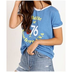 New WILDFOX Johnny Ringer T Nowhere Blue